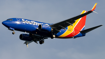 A picture of N251WN - Boeing 7377H4 - Southwest Airlines - © Marty B