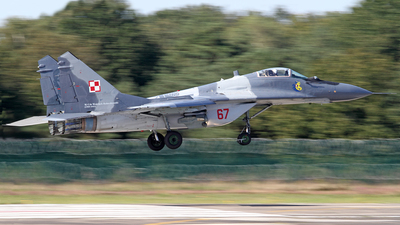 67 - Mikoyan-Gurevich MiG-29A Fulcrum - Poland - Air Force