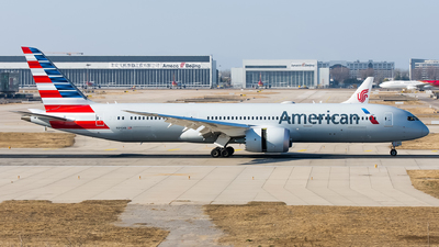 A picture of N840AN - Boeing 7879 Dreamliner - American Airlines - © Song Yingqi