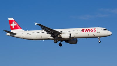 A picture of HBIOD - Airbus A321111 - Swiss - © António Jorge Oliveira