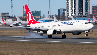 A picture of TCJYN - Boeing 7379F2(ER) - Turkish Airlines - © Jevgeni Ivanov
