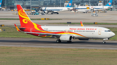 A picture of B5429 - Boeing 73786N - Hainan Airlines - © ZGGG RWY01