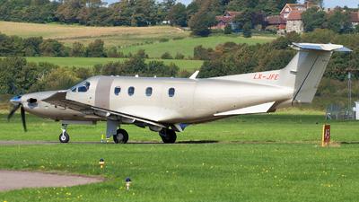 A picture of LXJFE - Pilatus PC12/47E - Jetfly Aviation - © Stephen Duquemin