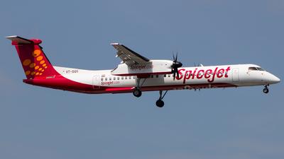 A picture of VTSQG - De Havilland Canada Dash 8400 - SpiceJet - © Aneesh Bapaye