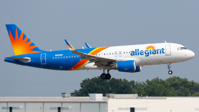 A picture of N253NV - Airbus A320214 - Allegiant Air - © Donald  E Moore