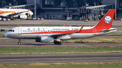 A picture of B6956 - Airbus A320232 - Sichuan Airlines - © nibrage