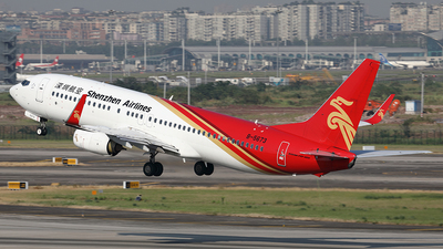 A picture of B5673 - Boeing 73787L - Shenzhen Airlines - © YIJING HOU