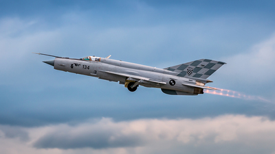 134 - Mikoyan-Gurevich MiG-21 Fishbed - Croatia - Air Force