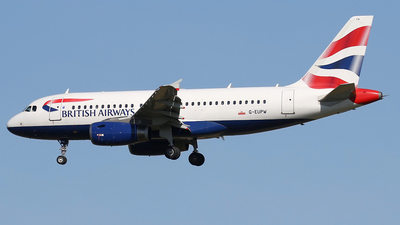 A picture of GEUPW - Airbus A319131 - British Airways - © Nigel Fenwick
