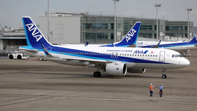 A picture of JA220A - Airbus A320271N - All Nippon Airways - © kouyagi