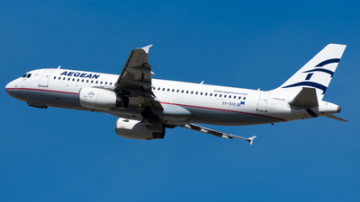 A picture of SXDVG - Airbus A320232 - Aegean Airlines - © John Leivaditis