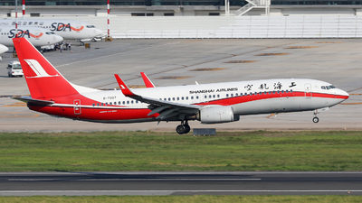 A picture of B7397 - Boeing 73789P - Shanghai Airlines - © Xuanting Wang