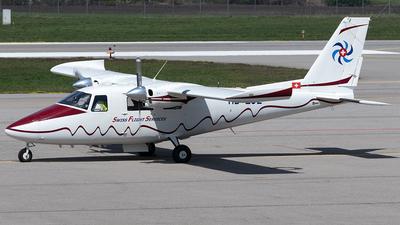 A picture of HBLUZ - Partenavia P68C - Swiss Flight Services - © Maximilian Haertl