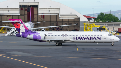 A picture of N486HA - Boeing 71722A - Hawaiian Airlines - © Jackson Smith