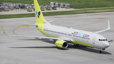 A picture of HL8014 - Boeing 7378SH - Jin Air - © Lihaoyang