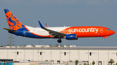 A picture of N834SY - Boeing 7378KN - Sun Country Airlines - © Donald  E Moore