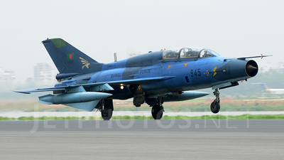 F945 - Chengdu F-7BG - Bangladesh - Air Force