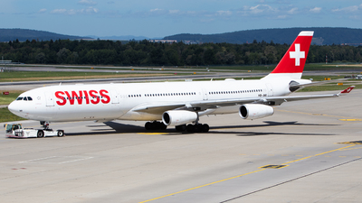 A picture of HBJMI - Airbus A340313 - Swiss - © Tim Donell