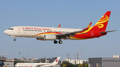 A picture of B6103 - Boeing 73784P - Hainan Airlines - © skerry