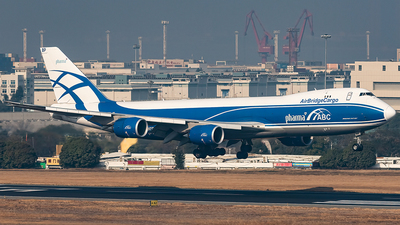 A picture of VPBBP - Boeing 7478HV(F) - AirBridgeCargo Airlines - © AndySpotter