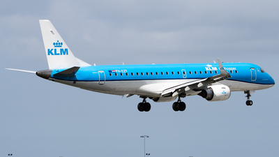 A picture of PHEZT - Embraer E190STD - KLM - © Wilko Doodhagen