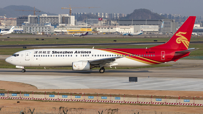 A picture of B5103 - Boeing 73797L - Shenzhen Airlines - © Fuxin Ma