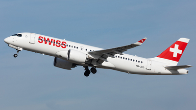 A picture of HBJCO - Airbus A220300 - Swiss - © John Richard
