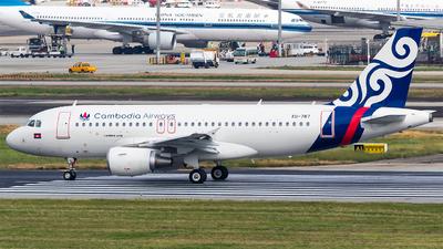 A picture of XU787 - Airbus A319112 - Cambodia Airways - © HM Liu