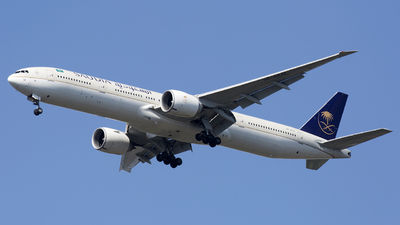 A picture of HZAK32 - Boeing 7773FG(ER) - Saudia - © Akbarali Mastan