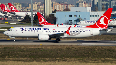 A picture of TCLCM - Boeing 737 MAX 8 - Turkish Airlines - © Deniz Can Biroglu