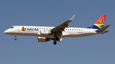 ZS-YAA - Embraer 190-100IGW - Airlink