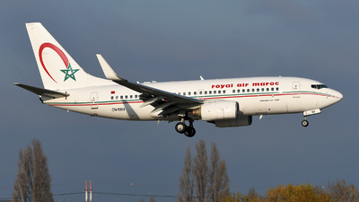 A picture of CNRNV - Boeing 7377B6 - Royal Air Maroc - © bruno muthelet