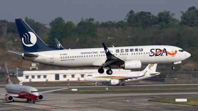 A picture of B5453 - Boeing 73785N - Shandong Airlines - © baobao723