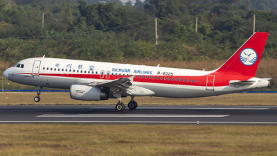 A picture of B6325 - Airbus A320232 - Sichuan Airlines - © XieTM