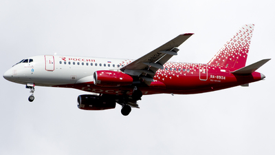 A picture of RA89134 - Sukhoi Superjet 10095B - Rossiya - © SN7756