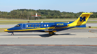 N75UM - Bombardier Learjet 45 - University of Michigan Health System