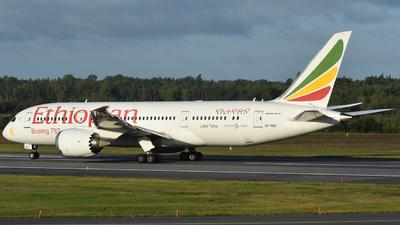 A picture of ETAOO - Boeing 7878 Dreamliner - Ethiopian Airlines - © Adam Lanzen