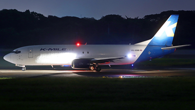 A picture of HSKMB - Boeing 73746Q(SF) - KMile Air - © doublefighter