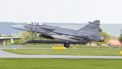 218 - Saab JAS-39C Gripen - Sweden - Air Force