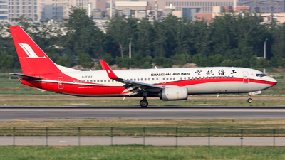 A picture of B7397 - Boeing 73789P - Shanghai Airlines - © Jack  Li