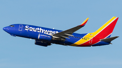 A picture of N745SW - Boeing 7377H4 - Southwest Airlines - © Evan Dougherty