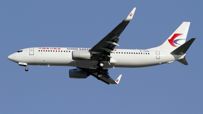 A picture of B7592 - Boeing 73789P - China Eastern Airlines - © wangpaul