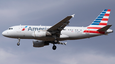 A picture of N773XF - Airbus A319112 - American Airlines - © Evan Dougherty