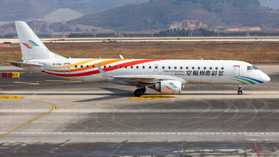 A picture of B3116 - Embraer E190LR - Colorful GuiZhou Airlines - © LingFeng