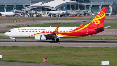A picture of B1729 - Boeing 73784P - Hainan Airlines - © Shiori Daredemo Daisuki