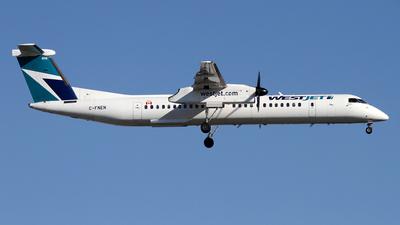 A picture of CFNEN - De Havilland Canada Dash 8400 - WestJet - © Daniel Lapierre Forget