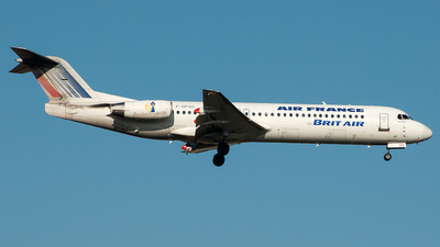 F-GPXD - Fokker 100 - Air France (Brit Air)