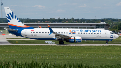 A picture of TCSOE - Boeing 7378HC - SunExpress - © Michael Musil