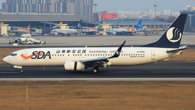 A picture of B5758 - Boeing 73789L - Shandong Airlines - © SEN BAI
