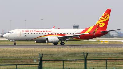 A picture of B5416 - Boeing 73784P - Hainan Airlines - © Railgun